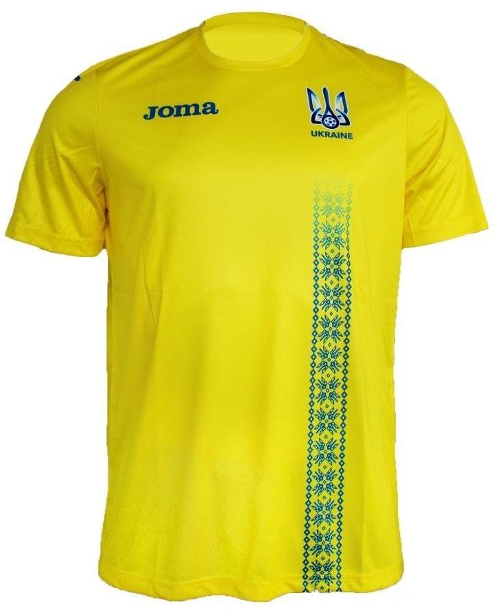 ffu401011 17 1428337684. Футболка желтая сборной Украины РЕПЛИКА Joma  FFU401011.17 ... dbfa1a26aa015